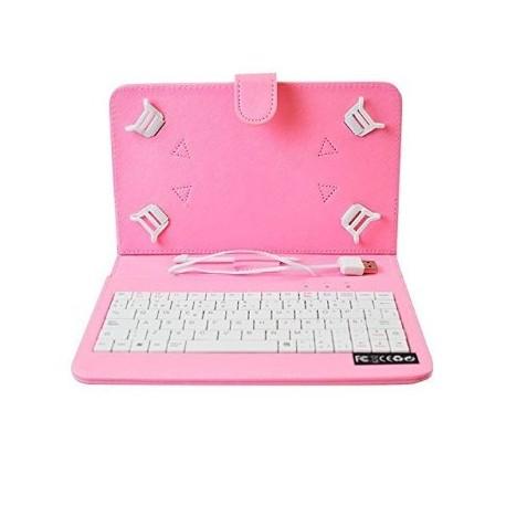 Funda tablet 7 con teclado universal conector microusb o usb - Funda tablet con teclado 7 ...