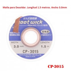 Malla para desoldar 3.0mm x 1.5M (Goot Wick)