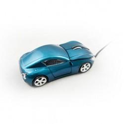 Ratón Optico MTK Coche 3D USB, Color Azul