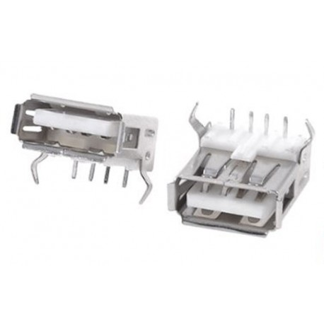 Conector USB para soldar en placa (Tipo A Hembra)