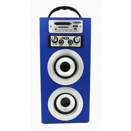 Altavoz Portatil con KARAOKE + Reproductor MP3 SD/USB + Radio