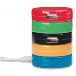 HUB USB 2.0 MANHATTAN GALLETAS 4 PUERTOS