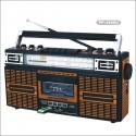 Radio Cassette Vintage con Conexión USB y Tarjetas SD
