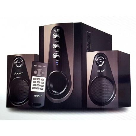 Altavoces Multimedia  RHM RM-103 USB, Radio FM, Micro SD, Bluetooth, Mando a distancia