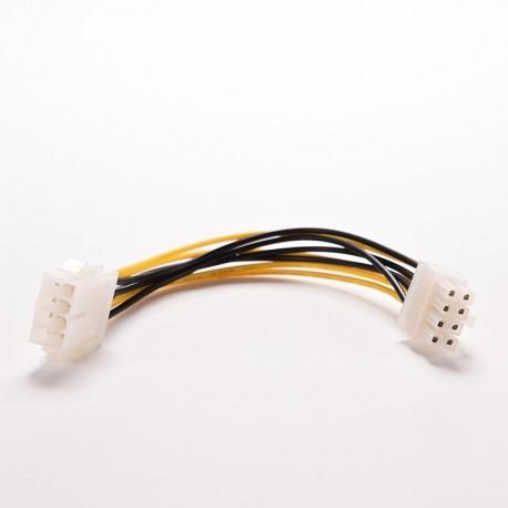 Cable Prolongador Fuente Alimentación ATX 8 pines Macho-Hembra