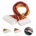 Cable Prolongador Fuente Alimentación ATX 24 pines Macho-Hembra