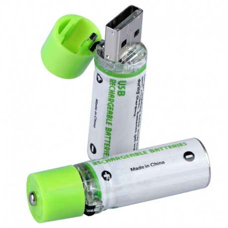 Pilas AA Recargables por USB Pack 2 unds