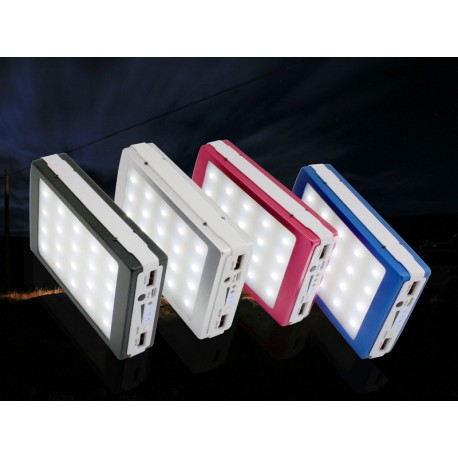 Batería de Carga Solar 12000 mAh con Linterna LED ( Power Bank Solar + Linterna)