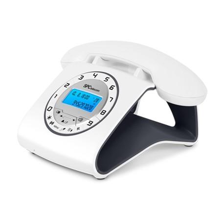 Teléfono Inalámbrico SPC Retro 3606N Blanco/Negro