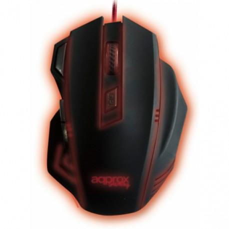 Ratón Gaming Approx APPSLAYER Retroiluminado USB