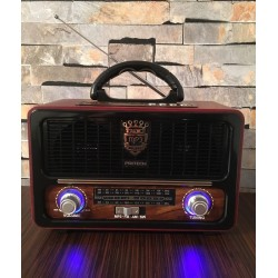 Radio Vintage. Altavoz Bluetooth, estilo Retro con Radio, MP3, USB, SD