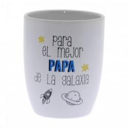 Original Taza de Cerámica decorada con frase - Para el mejor Papa de la Galaxia
