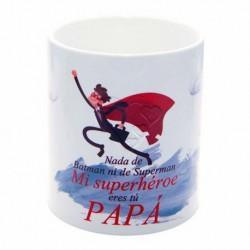 Original Taza de Cerámica decorada con frases - Nada de Batman ni de Superman, Mi superhéroe eres tú PAPÁ