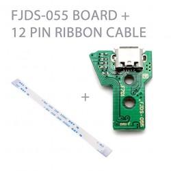 Placa con conector de carga USB para mando PlayStation 4 + Flex de datos JDS-055 JDS-050