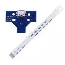 Placa con conector de carga USB para mando PlayStation 4 + Flex de datos JDS-001