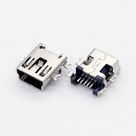 Conector Mini USB 5 pines (Mini B5) SMD Billow