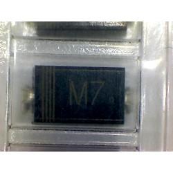 10x Diodo SMD 1N4007 1A 1000V M7 DO-214AC