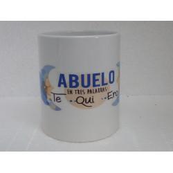 Original Taza de Cerámica decorada con frase -Abuelo en tres palabras Te-Qui-ero-