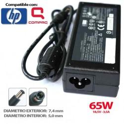 Cargador de Portátil HP 18'5V - 3'5A - 7,4*5.0MM 65W Compatible