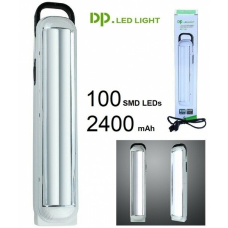 Linterna / Lámpara de Emergencia portátil LED Recargable (100 LEDs)  2400mAh