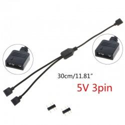 Cable Multiplicador ARGB 1 a 2 - Splitter ARGB 1 a 2 para tiras LED