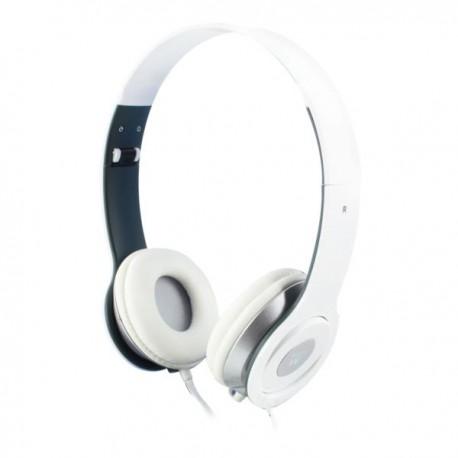 Auricular DJ Blanco Plegable EWENT EW3574