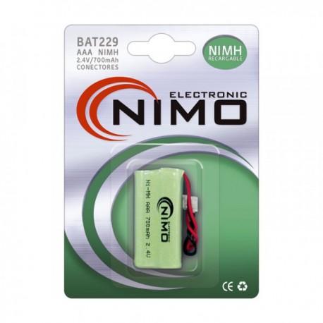 Batería 2,4V  700mAh NI-MH NIMO