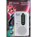 Radio de Bolsillo AM/FM DV-TECH