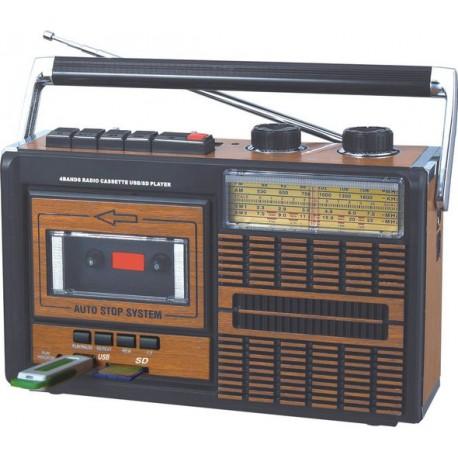 Radio Cassette con Conexión USB y Tarjetas SD