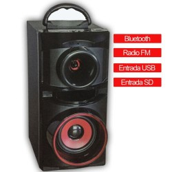 Altavoz Bluetooth Reproductor MP3, con radio y entrada USB / SD